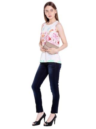 Skinny Fit Rise Fit Jeans Womens Selena Spykar Low Blue q8En6A