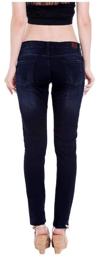 Spykar Rise Womens Low Selena Fit Blue Skinny Jeans Fit zg7nz6Ur