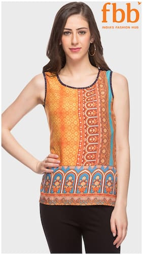 Srishti Floral Print Sleeveless Top