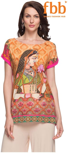 Srishti Mustard Printed Regular Tunic