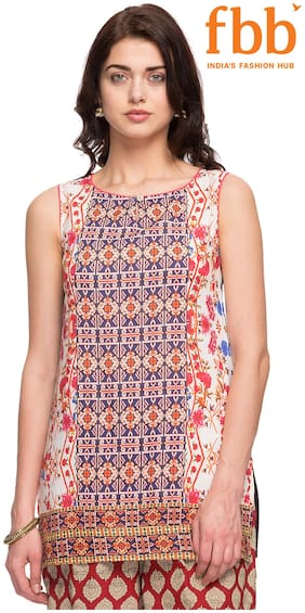 Srishti Navy Printed Regular Women's Tunic