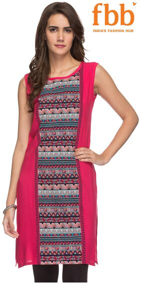 Srishti Women's Pink Regular Tunic