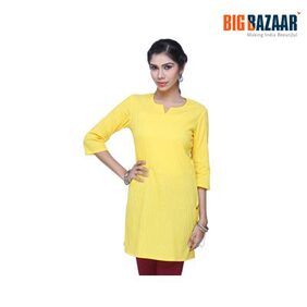 Srishti Yellow Pintuck Women's Kurta
