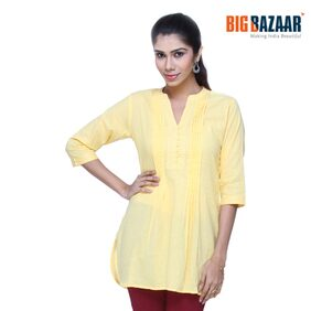 Srishti Yellow Solid Women's Kurta