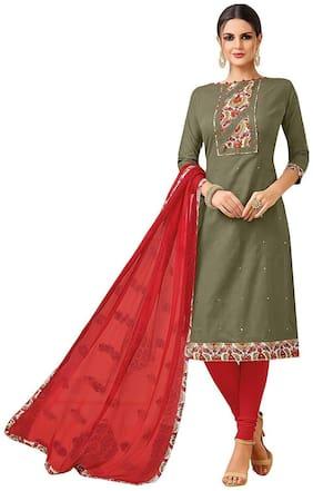 SrishtiCreations. Women s Suit Salwar Kurta Suit With Dupatta (Unstitched Suit)