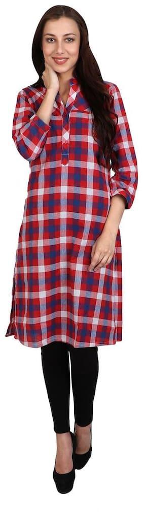 Sritika Women Cotton Printed A line Kurti - Multi
