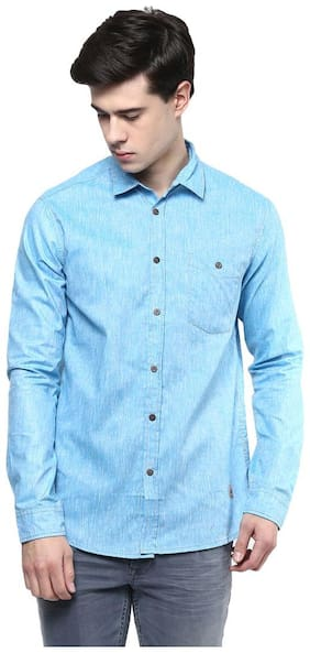 Srota Men Slim Fit Casual shirt - Blue