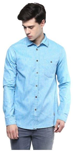 Srota Men Slim Fit Casual shirt - Blue