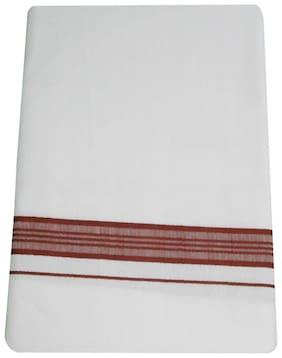 SRT Cotton Solid Mundu Dhoti - White