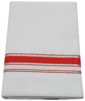 SRT Cotton Solid Regular dhoti Dhoti - White