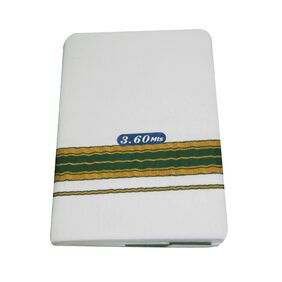 SRT Cotton Solid Mundu Dhoti - White