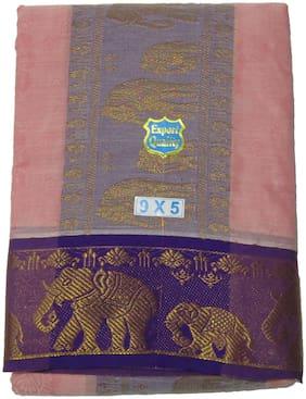 SRT Cotton Floral Regular dhoti Dhoti - Beige