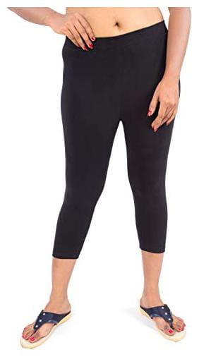 Stable impex Women Three-Fourth Solid Leggings