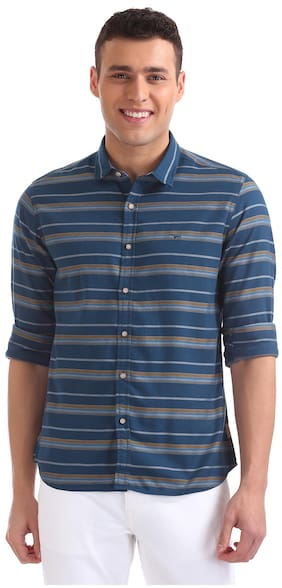 Flying Machine Men Regular Fit Casual shirt - Blue