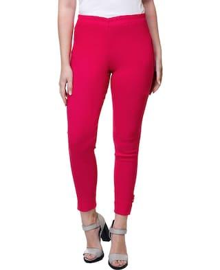 Dark Cotton Straight Stanvee lycra Paint Pants Blend Pink tHTTwanUqO
