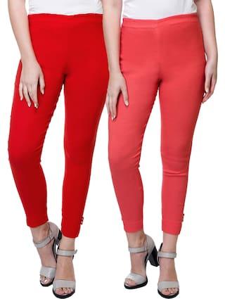 Stanvee Women Solid Regular Fit Pant Palazzo Pack Of 2