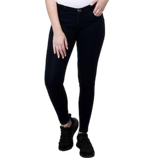 Stanvee Women Lean Look with Slim-fit Mid Rise DBLUE Jeans