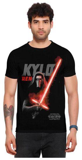 Star Wars Men Regular Fit Round Neck Superhero T-Shirt - Black