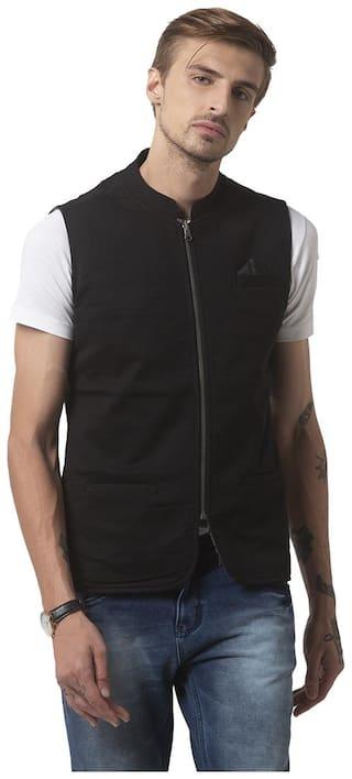 Status Quo Men Cotton Regular fit Waistcoat - Black