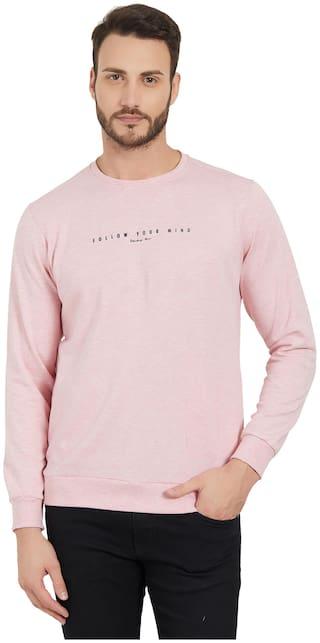 Status Quo Men Pink Round neck Sweatshirt