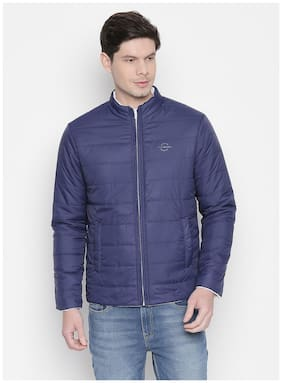 Men Polyester Long Sleeves Quilted Jacket