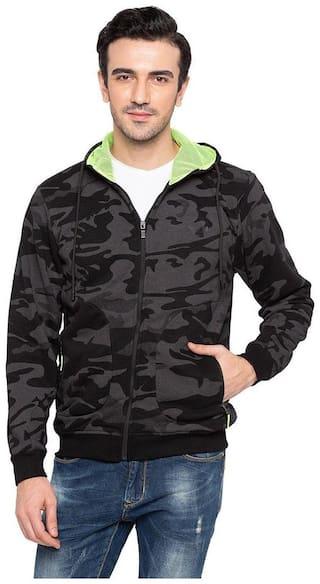 Status Quo Mens Black Slim Fit Sweatshirt