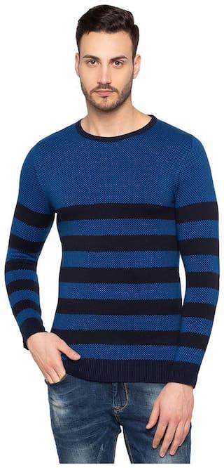 Status Quo Men Blue Round neck Pullover