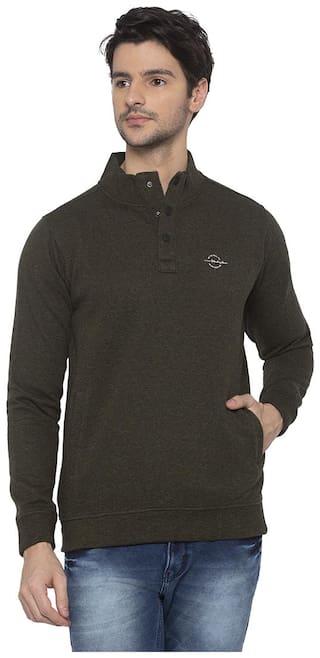 Status Quo Men Green High neck Sweatshirt