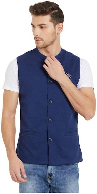 Status Quo Men Cotton Regular fit Waistcoat - Blue
