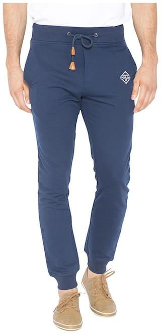 Status Quo Men Blended Track Pants - Blue