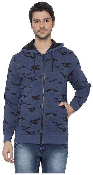 Status Quo Men Blue Hooded Sweatshirt