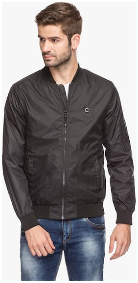 Status Quo Mens Nylon Black Slim Fit Jacket