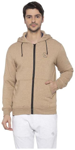 Status Quo Men Beige Hooded Sweatshirt