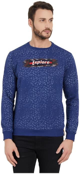 Status Quo Men Blue Round neck Sweatshirt