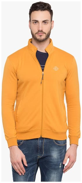 Status Quo Men Cotton Sweatshirt - Yellow