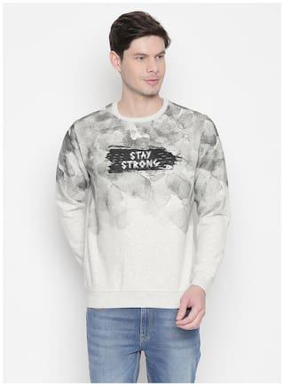 Status Quo Men Grey Round neck Sweatshirt