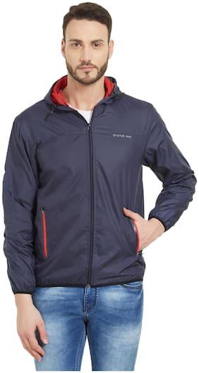Men Crepe Full Sleeves Quilted Jacket