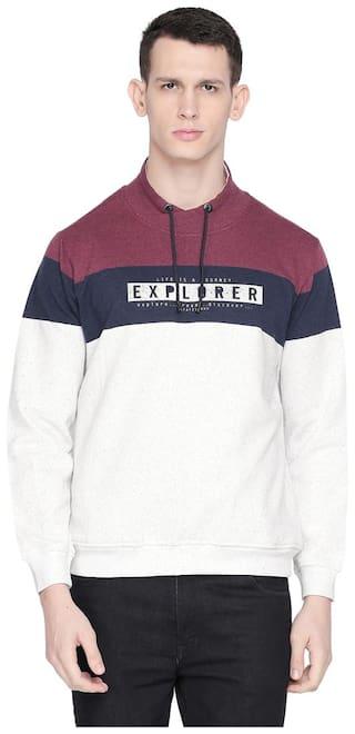 Status Quo Men Purple High neck Sweatshirt