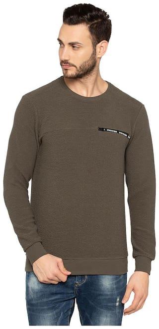 Status Quo Men Green Round neck Sweatshirt