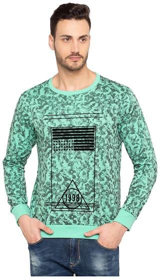 Status Quo Mens Green Slim Fit Sweatshirt