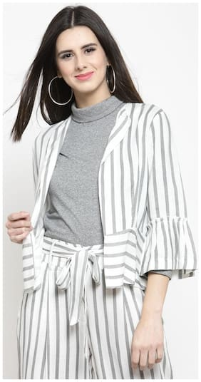 Women Viscose Rayon Regular FIt Blazer