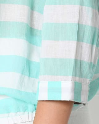 Shirt with Roll Striped Tabs Casual Up fwxHBn5Zq
