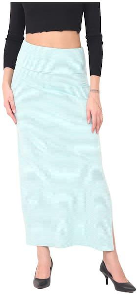 Trend Arrest Printed A-line skirt Midi Skirt - Blue