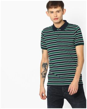 Striped Slim Polo T-shirt