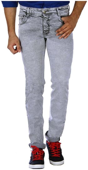 Studio Nexx Men Low rise Slim fit Jeans - Grey