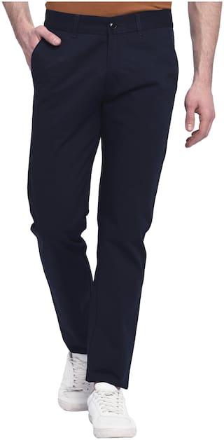 Studio Nexx Men Blue Solid Regular fit Chinos