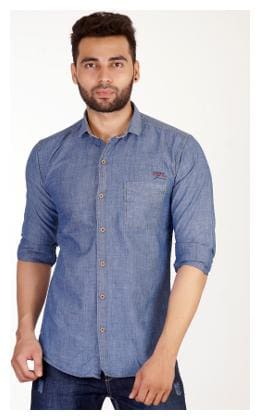 Studio Nexx Men's Dark Blue Denim Shirt