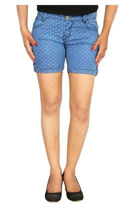 Printed Shorts Studio Women's Denim Light Nexx Blue qq1FTER