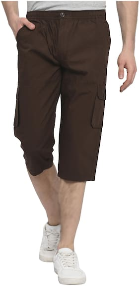 Studio Nexx Men Cotton 3/4th bottom - Brown