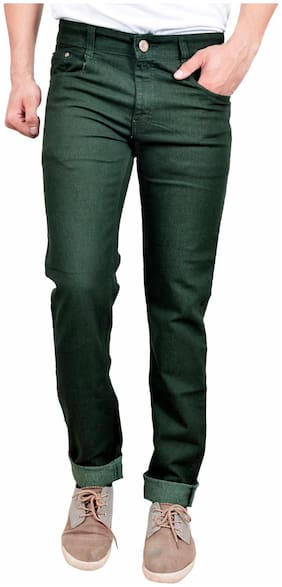 Studio Nexx Men Mid rise Regular fit Jeans - Green